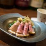 松やま - 河内鴨と三関セリの冷し煮