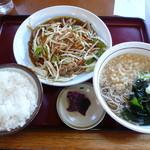 山田うどん - 料理写真:野菜炒めセット
