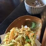 自家焙煎 花の木珈琲店 - +300円でかき揚げと雑穀米付きに