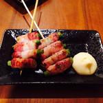 居酒屋 HALU - アスパラベーコンの串焼き