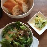 32653284 - 2014/10/21 Lunchのパン、サラダ、カブの煮物