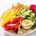 アニバーサリー クルーズ - 彩野菜のスティックサラダ、バーニャカウダー添え