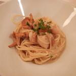 イルサーレ - ジロール茸と帆立貝のスパゲッティ