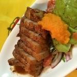 Pio - 豚ばら肉とアボカドのバルサミコソース