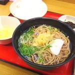 麺家兵庫 - 朝定食 温かいそば