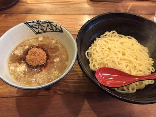 兼虎 天神店 - 赤坂 兼虎 濃厚つけ麺 普通盛 800円也 麺をあつもりにしていただきました。2014.11.17