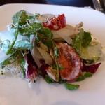 ピエール・ド・ロンサール - お皿に取った、地元野菜のサラダ♪