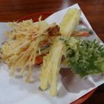 かぎもとや - 「天ざる」の天ぷら