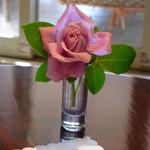 ピエール・ド・ロンサール - テーブルの上のバラ♪