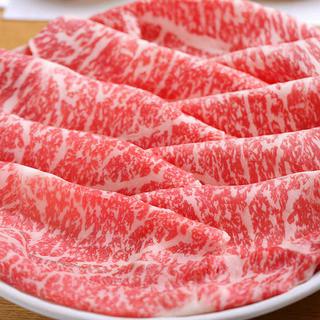 とろける味わい、国産和牛霜降り肉