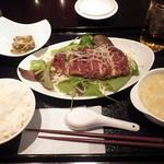 宋さんの飲茶 - 油淋鶏ランチセット(500円)