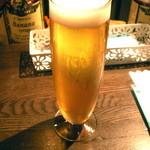 オランジェ コーヴォ - 生ビール(スーパードライ、650円)