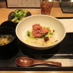 32664617 - なめろうご飯ランチ ¥900 (消費税8%込)