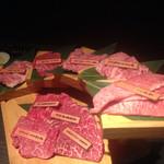 土古里 - 山形牛一頭盛り。お値段は強気だがそれに見合う味。