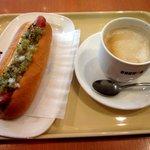 ドトールコーヒーショップ - 朝カフェ・Dセット(サワーピクルスドック)!