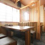 季禅房 - テーブル席もご用意致しております。