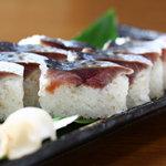 季禅房 - 【清水鯖の棒寿司】 680円 新鮮な清水鯖をこだわりのシャリで仕上げました。