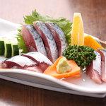 季禅房 - 【清水鯖の刺身】 840円 土佐清水沖で捕れた新鮮な鯖を使っています。