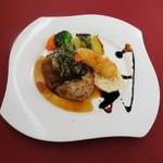メルカート - 料理写真:おろしハンバーグとエビフライ