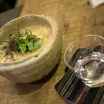 燗の美穂 - 牡蠣とトマトの卵とじ