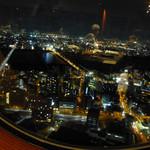中国料理 燦宮 - 窓からの眺め、すっかり夜になりました。