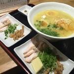 らーめん 玉宮鶏白湯 鶏神 - 鶏白湯全部載せ1200円