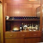 ステーキハウス バロン - ロマネコンティの空き瓶も数本ありますw