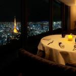 マドラウンジ - Xmasは東京タワーとスカイツリーを眺めながら優雅な時間をお過ごしください。