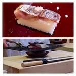 32687842 - 秋刀魚の一夜干し・・出すまえに皮目を炙られますが、甘みが増して美味しいこと。
