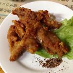 蘭芳園 - 2014.10 晩酌セットで選んだ若鶏の唐揚げ