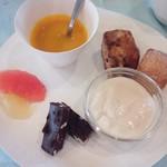 ぱんごはん - デザートとスープのプレート