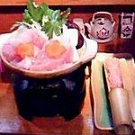 江戸娘 - 大山鶏の鶏つくね鍋  ¥1600