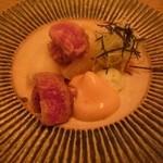 32690191 - 主菜…A4ランク 黒毛和牛サーロインステーキ。今回一番残念だったお料理…