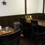 つけ汁うどん 野澤 - テーブル席