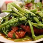 CONROW - 空芯菜と豚肩ロースの辛味噌炒め