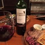 32694797 - 肉には、やっぱり赤ワイン!
