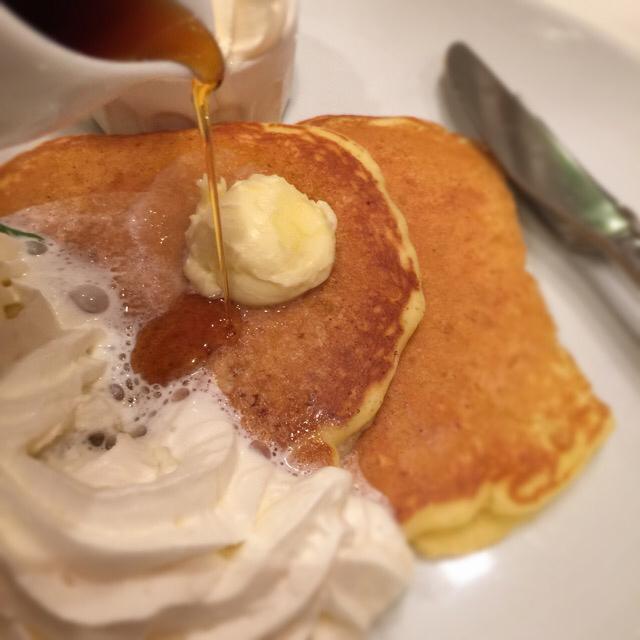 Butter 茶屋町 - プレミアムパンケーキ〜純生クリーム&北海道ソフトクリーム添え