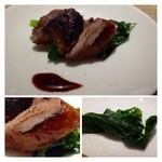 32701801 - 前菜:私には「ウズラ」が出されました。これ絶品です、こんなに美味しい「ウズラ」は初めてかも。                       皮の部分は北京ダックよりも美味しいかもしれません。
