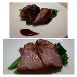 32701803 - 前菜:山形の豚グリル・・お肉も柔らかく美味しいそうですよ。