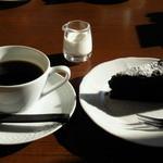 大観 - ケーキセット ケーキは温かいガトーショコラで!