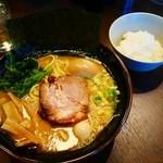 幸北家 - 醤油豚骨 味玉¥850 +サービスライス(ランチタイム無料・通常¥100)