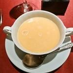 ビストロ・プティポワ - 赤ピーマンのスープ