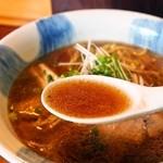 らーめん ひなた - 鶏ガラ正油(スープ)