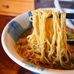 らーめん ひなた - 鶏ガラ正油(麺)