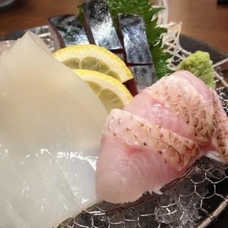 地元日本海で水揚げされた旬の鮮魚が自慢の海鮮居酒屋です
