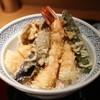 てんぷら 山の上 - 料理写真:季節の天ぷら、海老2本、ナス