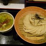 荒木伝次郎 - 牡蠣塩バターつけ麺(H26.11.18)
