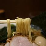 中華めん処 道頓堀 - 麺はストレート