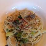 32717355 - 生リングイネ〜牡蠣と長葱のペペロンチーノ〜