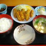 安芸の国 - カキフライ定食1100円